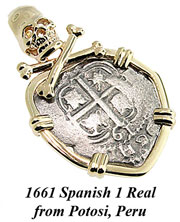 1664 Spanish 1 Real from Potosi Peru