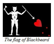 The flag of Blackbeard