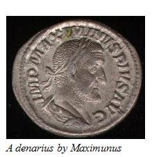 A denarius by Maximunus