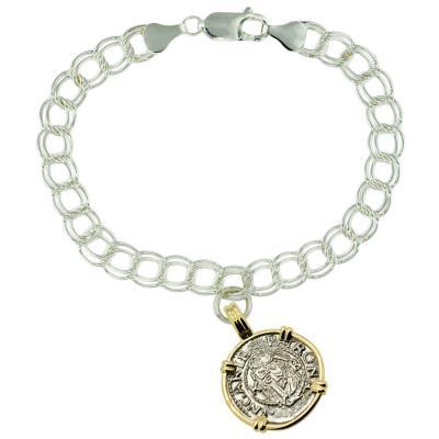 Madonna and Child Denar Charm Bracelet