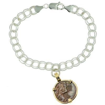 AD 337-340 Hand of God coin on charm bracelet