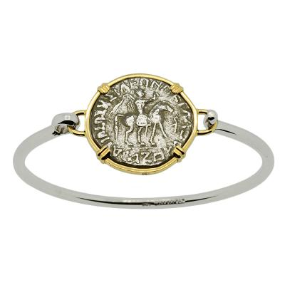 King Azes and Athena Tetradrachm Bracelet