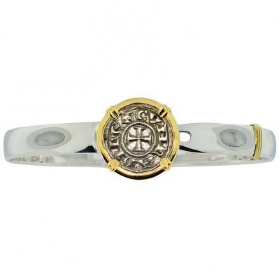 Crusader Cross Denaro Men's Bracelet