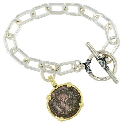 Roman Constantinopolis and Victory Coin Bracelet