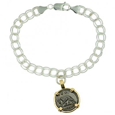 She Wolf and Roma Nummus Charm Bracelet