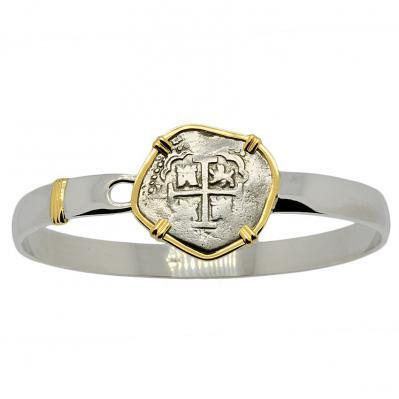 King Charles II Spanish 2 Reales Men's Bracelet