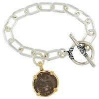 SOLD #8780 She Wolf & Roma Nummus Charm Bracelet; Please Explore Our Bracelets For Similar Items.