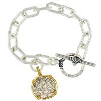 #8837 Madonna & Child Denar Charm Bracelet