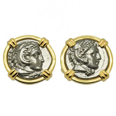Alexander the Great Drachm Cufflinks