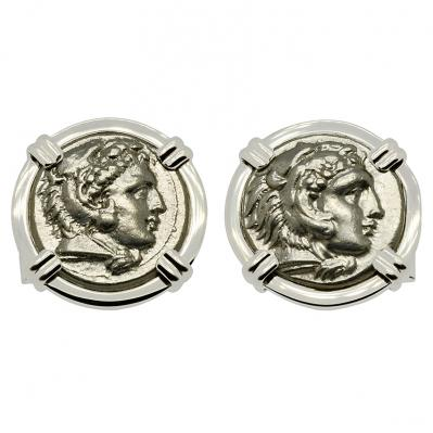 SOLD Alexander the Great Drachm Cufflinks. Please Explore Our Cufflinks For Similar Items.