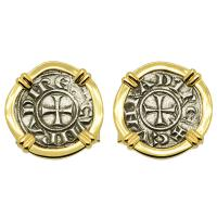 Crusader Cross Denaro Cufflinks