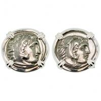 #9539 Alexander the Great Drachm Cufflinks