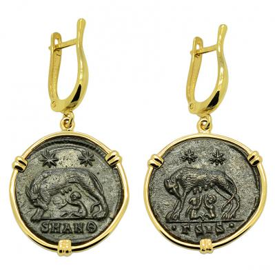 She Wolf and Roma Nummus Earrings