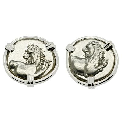 Lion Hemidrachm Earrings