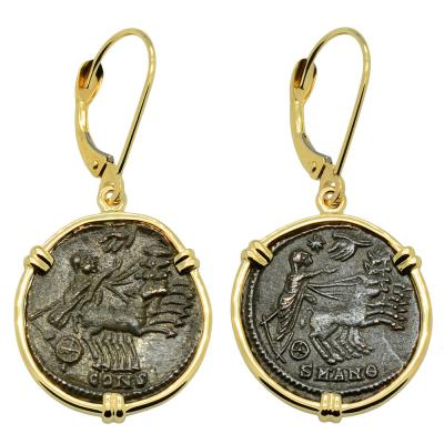 Constantine Hand of God Coin Earrings