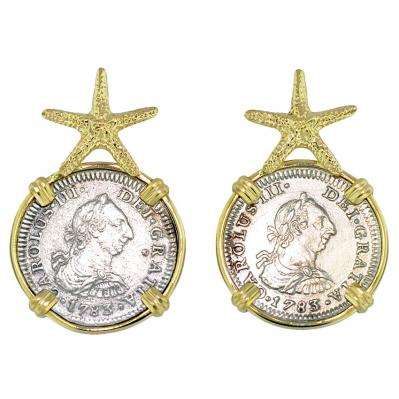 El Cazador Shipwreck 1/2 Reales Earrings