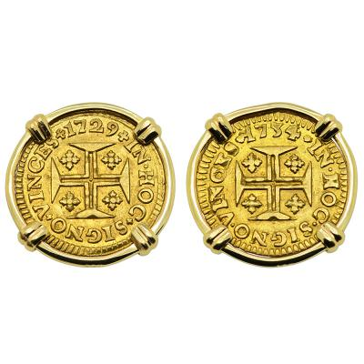 Portuguese 400 Reis Earrings