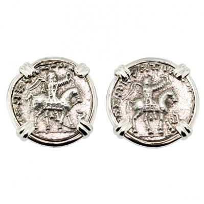 SOLD King Azes and Zeus Drachm Earrings; Please Explore Our Earrings For Similar Items.