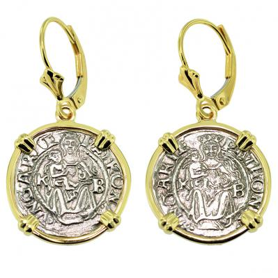 Madonna and Child Denar Earrings