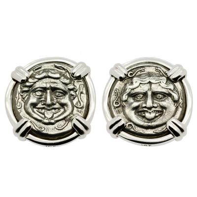 Gorgon Hemidrachm Earrings