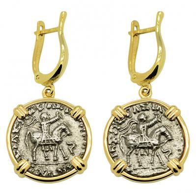 King Azes & Zeus Drachm Earrings