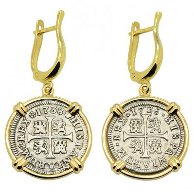 King Philip V Half Real Earrings