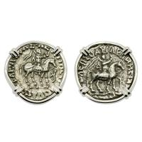 King Azes with Athena and Zeus Drachm Earrings