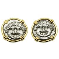 Gorgon Drachm Earrings