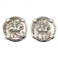 #8070 King Azes & Zeus Drachm Earrings