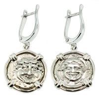 #8171 Gorgon Hemidrachm Earrings