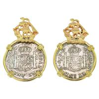 #8306 El Cazador Shipwreck Half Reales Earrings