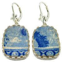 #8592 Caribbean Shipwreck Pottery Earrings