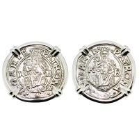 SOLD Madonna and Child Denar Earrings; Please Explore Our Earrings For Similar Items.