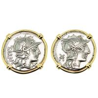 #8977 Roma Denarius Earrings