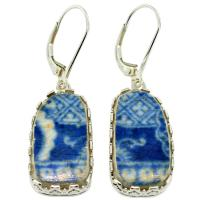 #9114 Caribbean Shipwreck Pottery Earrings