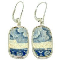 #9115 Caribbean Shipwreck Pottery Earrings