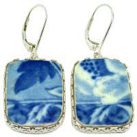 #9116 Caribbean Shipwreck Pottery Earrings
