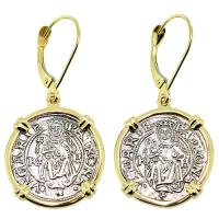 #9143 Madonna & Child Denar Earrings