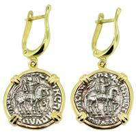 #9147 King Azes & Zeus Drachm Earrings