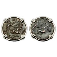 #9387 Constantine Hand of God Coin Earrings