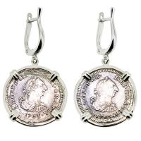 SOLD El Cazador Shipwreck Half Reales Earrings; Please Explore Our Earrings For Similar Items.