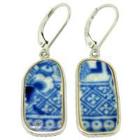 #9477 Caribbean Shipwreck Pottery Earrings