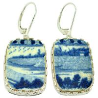 #9614 Caribbean Shipwreck Pottery Earrings