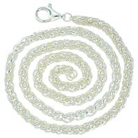 Wheat 4mm Sterling Silver Necklace