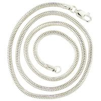 #5014 Round Snake 2.5mm Sterling Silver Necklace