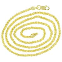 Woven 14K Gold Chain for Women or Men that pairs nicely with our medium to smaller sized Treasure Pendants.