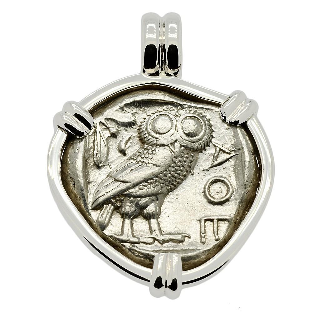 Owl And Athena Tetradrachm Pendant