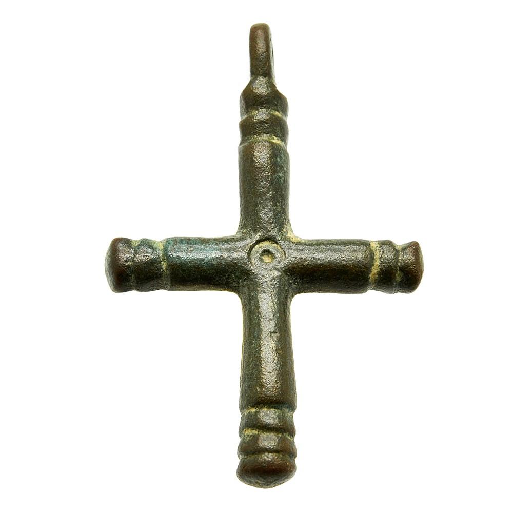 #0923 Antique Bronze Plated 45mmx73mm Large cross pendant
