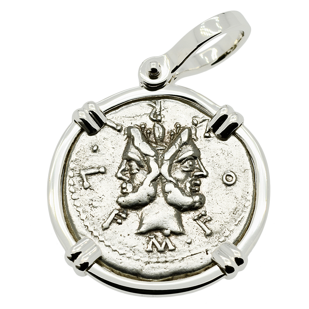 god of new beginnings Sterling Silver Pendant Janus Pendant
