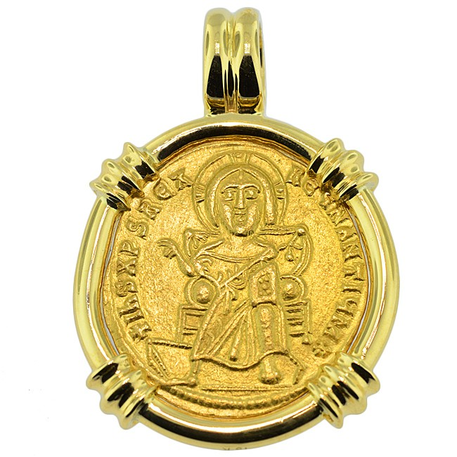 Ancient gold gold jesus christ solidus coin jewelry close sold jesus christ solidus pendant please explore our gold coin aloadofball Choice Image